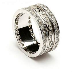 nordic wedding rings engraved celtic wedding ring with trim