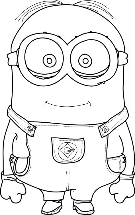 Kevin Minion Coloring Pages Gallery Free Coloring Books
