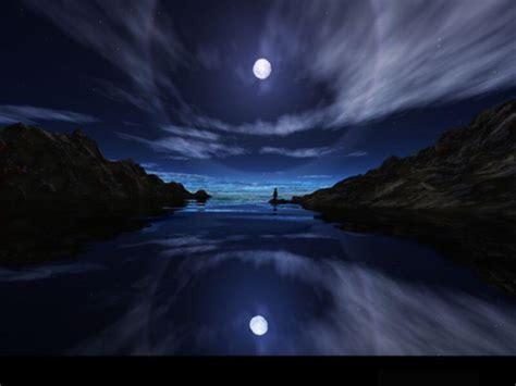 pemandangan bulan malam hari pemandanganoce