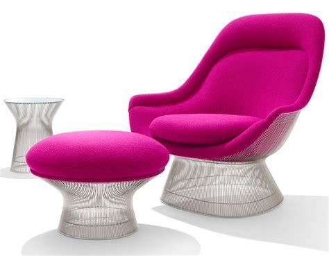 platner easy chair  ottoman hivemoderncom