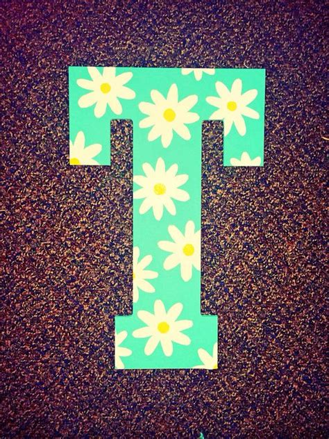 green daisy hand painted wooden letter etsy painting wooden letters letter  crafts wooden