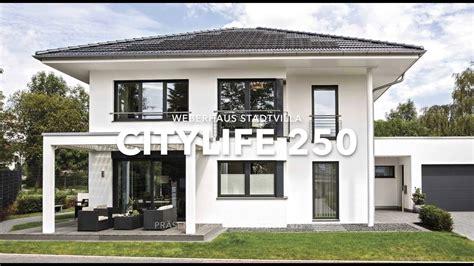 Moderne Stadtvilla Mit Garage Von Weberhaus Youtube