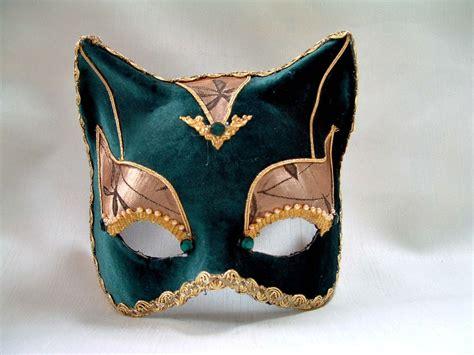 venetian cat mask cat green stoffa venetian mask venetian masks 1001