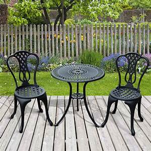 Aluminium Cafe Bistro Set Garden Furniture Table And Chair