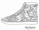 Coloring Pages Adult Shoes Shoe Printable Adults Books Jordan Kendra Shedenhelm Birds Templates Doodles Sheets Coolest Template Cool Colouring Bird sketch template