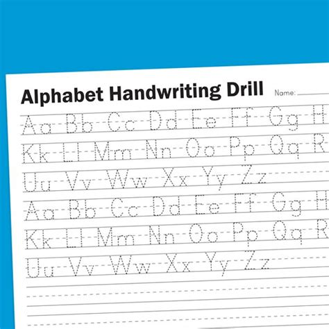 alphabet handwriting drill worksheet homeschool