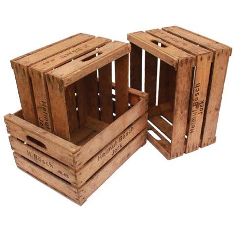 caisse a pommes en bois lot de 3 caisses de rangement en bois vintage achat vente boite de rangement soldes d 232 s