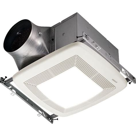 Humidity Sensing Bathroom Fan With Led Light by Broan Xb50l White 50 Cfm 0 3 Sone Ceiling Mounted Energy