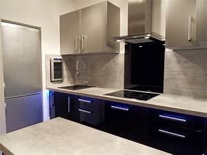 realisation 37 moble With carrelage adhesif salle de bain avec cave a vin avec eclairage led