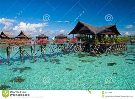 exotic tropical resort   middle  ocean stock photo