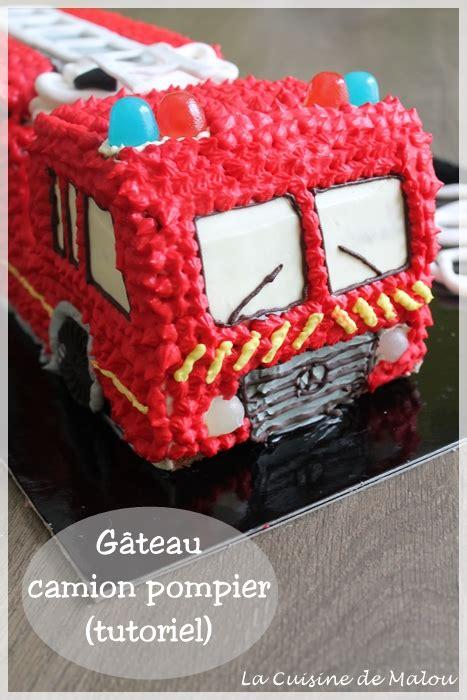 chef cuisine francais gâteau camion pompier tutoriel la cuisine de malou
