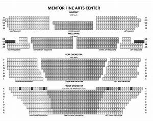 Fine Arts Center Seating Chart