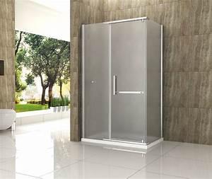 Dusche Ohne Duschtasse : opargo fr 120 x 90 cm frost glas dusche duschkabine duschwand duschabtrennung ebay ~ Indierocktalk.com Haus und Dekorationen
