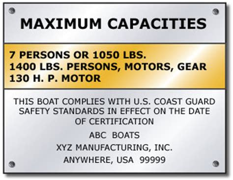 Mass Boat Registration Requirements by The Capacity Plate Rhode Islandboatinglicense Study Guide