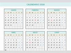Calendario 2018 en Excel PlanillaExcelcom