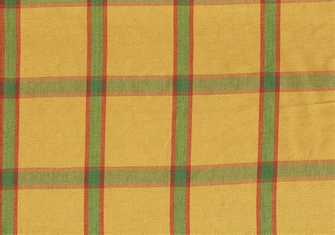 designer fabric gold green burgundy plaid drapery