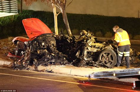 Paul Walker Death Car Crash Wreckage