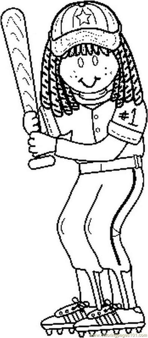 softball coloring pages    print