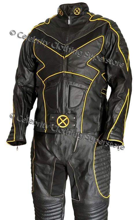 motorcycle suit mens wolverine x men 2 united real leather motorcyle suit