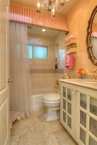 24 best ceiling curtains images on pinterest bathroom for Pink and cream bathroom