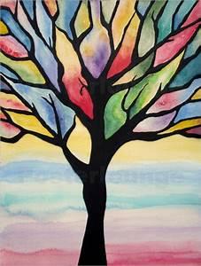 Bilder Bäume Gemalt : siegfried2838 bunter baum abstrakt gemalt poster online bestellen posterlounge ~ Orissabook.com Haus und Dekorationen