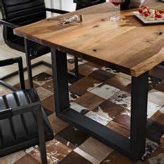 Esstisch Aus Tür : sch ner esstisch mit baumkante aus akazie massivholz zum ~ Michelbontemps.com Haus und Dekorationen