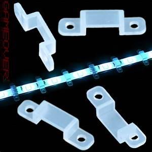 Led Strips Befestigen : silikon halterung fassung rgb smd led strip licht leiste streifen band clip 5050 ebay ~ A.2002-acura-tl-radio.info Haus und Dekorationen