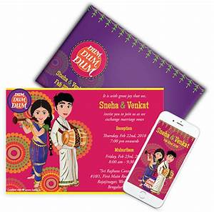 kards creative indian wedding invitations caricature With indian wedding invitation creator