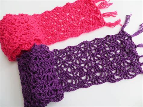 love  crochet  alana lacy scarf