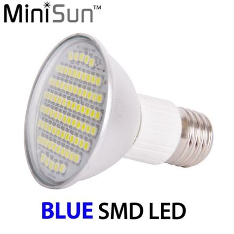 buy minisun es e27 7 5w r63 smd led spotlight bulb in blue