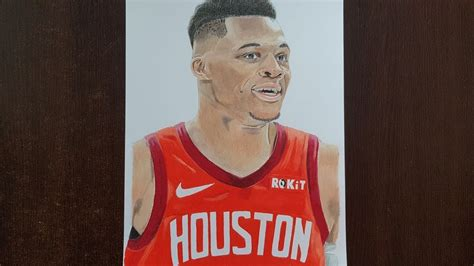 Russell Westbrook Houston Rockets Drawing Youtube