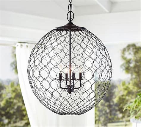indoor outdoor net globe pendant pottery barn