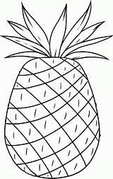 Pineapple Coloring Luau Hawaii Printable Cayenne Smooth Hawaiian Aloha Template Pdf Coloringhome Popular Birthdayprintable sketch template