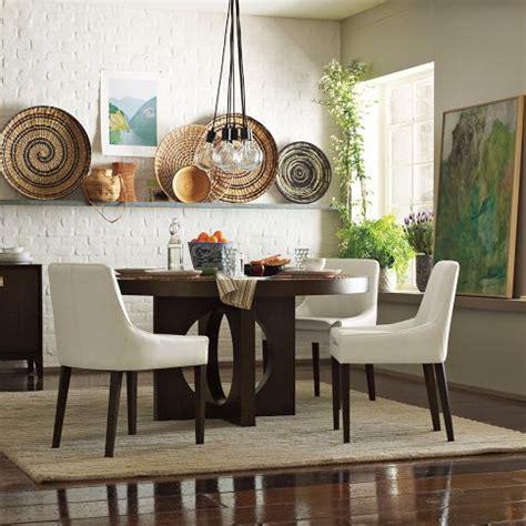 west elm  dining table  cutout legs