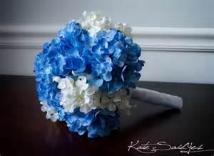 blue wedding flowers wedding bouquet blue and white hydrangea bridal bouquet