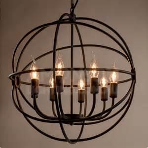 Edison Bulb Track Lighting by Foucault S Orb Iron Chandelier Black Iron Replica