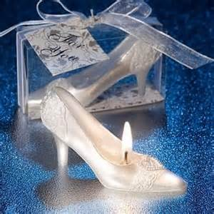 Fairytale High Heel shaped Candle Favors for wedding gifts