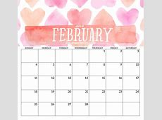 February 2018 HD Calendar Calendar 2018