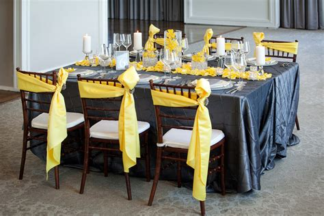 modern yellow slate wedding inspiration   detail