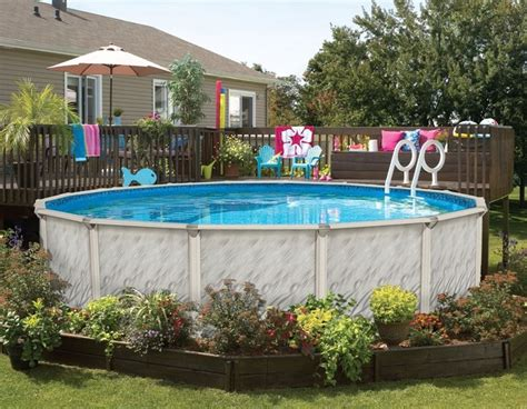 126 Best Images About Above Ground  Pool Landscaping On