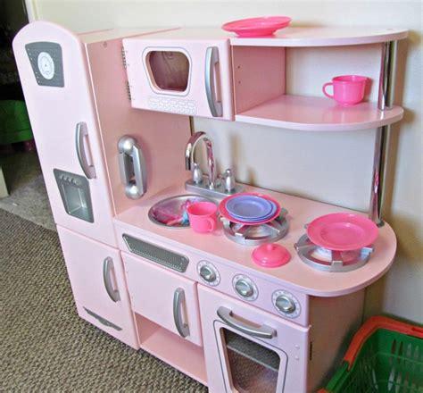 kidkraft kitchen accessories kidkraft kitchen pink vintage encourages pretend play 2094