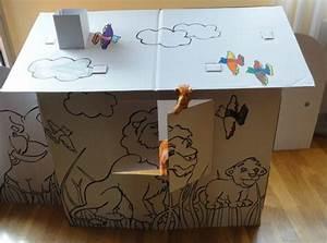Cabane En Carton À Colorier : acheter une cabane en carton jardin ~ Melissatoandfro.com Idées de Décoration
