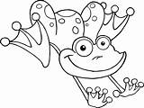 Coloring Frog Frogs Printable sketch template