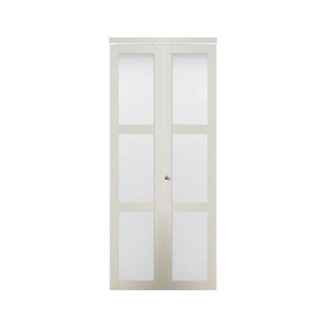 Frosted Glass Closet Doors by Truporte 36 In X 80 50 In 3080 Series 3 Lite Tempered