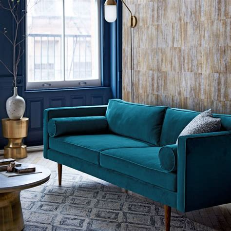 Living Room Design Blue Sofa by Mid Century Modern Sofa Furniture Is It Worth Investing