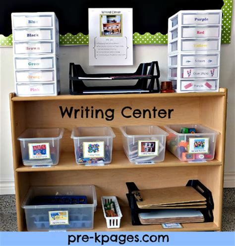 writing center for preschool and kindergarten 384 | preschool writing center