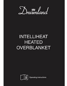 Dreamland Intelliheat Overblanket Operating Instructions