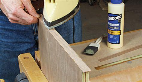 shop  iron  edge banding woodworking blog  plans