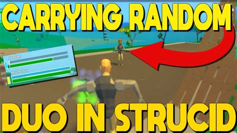 carrying random duo   victory  strucid youtube