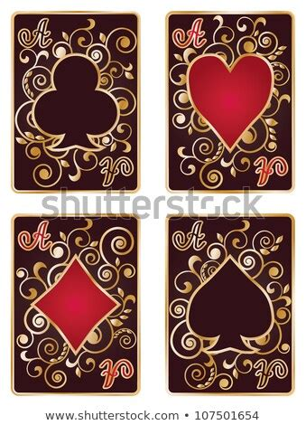 decorative playing card symbols set stock vector